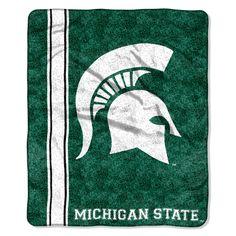 "Michigan State College """"Jersey"""" 50x60 Sherpa Throw"