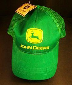 John Deere Green Mesh Cap Hat Adjustable NWT