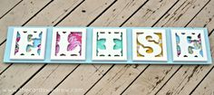 Wooden Letter Name Sign for nursery - The Cards We Drew
