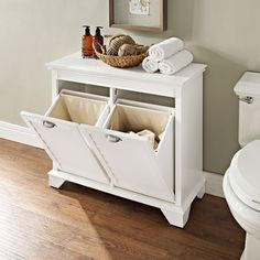 Crosley Furniture Lydia Linen Hamper in White (Wood) Bathroom Furniture, Crosley Furniture, Furniture, Bathrooms Remodel, Laundry Hamper, Bathroom Decor, Home, Laundry Room, Home Decor