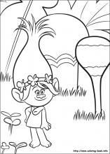 Trolls Coloring Pages On Book