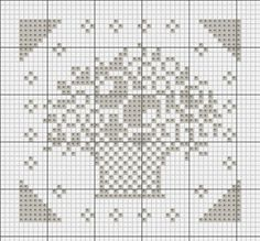 pattern for the cross stitch basket of flowers...sachet cover?