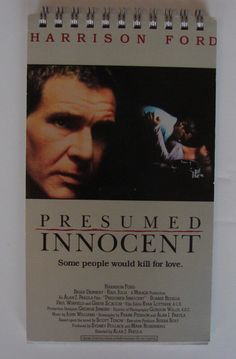 Salvaged And Recycled From The Actual VHS Papersleeve From Harrison Fordu0027s Presumed  Innocent Movie.  Movie Presumed Innocent