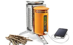 The BioLite CampStove charges your phone!
