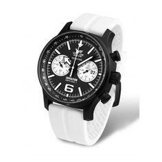 Reloj Expedition North Pole Chrono Vostok Blanco y Negro Cuero North Pole, Casio Watch, Europe, Black And White, Blue, Accessories, Watches, Hands, Fashion
