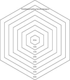 Step 1: Make Your 2-in Hexagon Template | Hexagon Butterfly ...