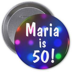 Shop Or Any Age And Any Name Birthday Button Pin created by mvdesigns. Surprise Birthday Gifts, Man Birthday, Birthday Wishes, Birthday Ideas, Colorful Birthday, Custom Buttons, Text You, Names, How To Make