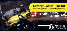More safety in traffic!Drive more relaxed than before!Take advantage of the new technology Discover the Revolutionary Driving Glasses and protect...