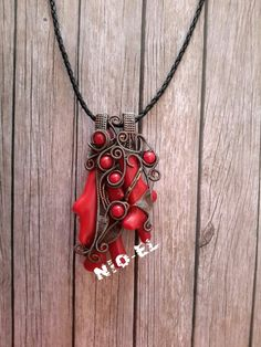 #Liontin#redcoral#handmade#jewelry#wire#