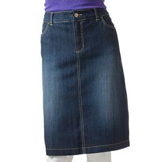 Croft and Barrow Denim Skirt from Kohl's
