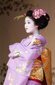Maiko Katsuna. #japan #kyoto #geisya #kimono Japanese Beauty, Asian Beauty, Yukata, Asian Woman, Asian Girl, Kyoto, Japanese Outfits, Japanese Kimono, Japan Fashion