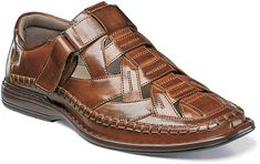 Stacy Adams Men's Biscayne Closed Toe Sandal 25025 Cognac Synthetic Size 8 M, Brown Fashion Sandals, Sneakers Fashion, Sandro, Closed Toe Sandals, Stylish Sandals, Mens Boots Fashion, Best Sneakers, Casual Boots, Leather Sandals