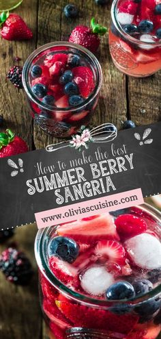 A delicious Mixed Berry Sangria made with Moscato, strawberries, raspberries, blackberries and blueberries! Just a few ingredients and this refreshing berry cocktail recipe is yours! This easy summer sangria recipe is perfect for BBQ & cookout entertaining, and also July 4th. #ad #sangria #cocktail Berry Sangria, Sangria Cocktail, Summer Sangria, Summer Bbq, Cocktails, Drinks, Sangria Recipes, Cocktail Recipes, Moscato Wine