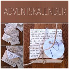 Adventskalender aus Buchseiten / Advent calendar made from book pages
