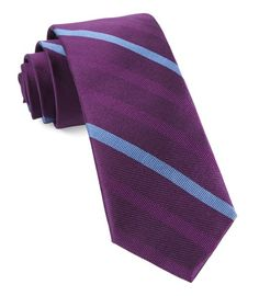 Goal Line Stripe Ties - Azalea | Ties, Bow Ties, and Pocket Squares | The Tie Bar