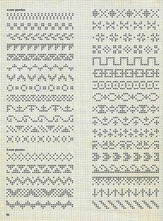 Crochet Patterns Filet, Crochet Bedspread Pattern, Fair Isle Knitting Patterns, Knitting Charts, Free Cross Stitch Charts, Cross Stitch Borders, Cross Stitch Designs, Cross Stitch Patterns, Diy Crafts Crochet