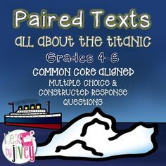 Paired texts meet the demand for more rigorous, complex texts with Common Core- especially these passages that students can use to compare and build knowledge to integrate information and draw conclusions. The passages in this set are great to stretch your 4th and 5th graders, and still appropriate for many students in middle school as well.