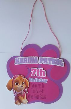 Paw Patrol Door Sign Paw Patrol Birthday Party Door Sign