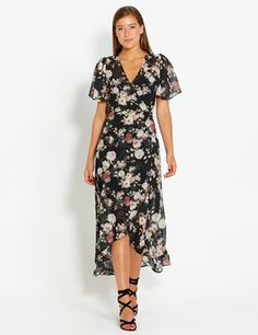 Louella Floral Wrap Dress