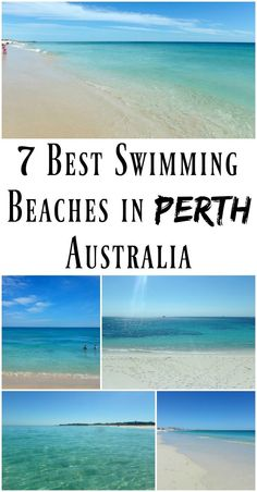 PIN FOR LATER: The 7 Best Swimming Beaches in Perth, Western Australia! They're all perfect for those who don't like huge waves and want a nice calm beach for a relaxing swim.