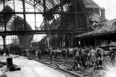 The ruins after a German air raid on Middlesbrough Railway Station. Abandoned Castles, Abandoned Mansions, Abandoned Places, Middlesbrough England, London Bombings, Old Train Station, Abandoned Amusement Parks, The Blitz, Old Trains