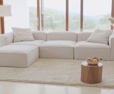 Beige Sofa Living Room, Living Room Sofa Design, Living Room Windows, Home Room Design, Living Room Interior, Home Living Room, Living Room Designs, Cozy Sofa, Loft Furniture
