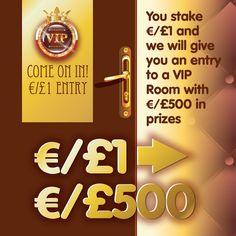 Stake €/£1 cash in any game on RehabBingo.com today for entry to VIP ROOM at 7pm. The first game starts at 7:10pm so even if you are late to can stil get in right up to 7.30pm. With €/£500 in prizes we hope to see you there! Game Start, Bingo Games, First Game, Casino Games, Vip, Room, Rooms, Bedroom