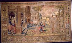 The tapestries in the Great Hall were purchased for Henry VIII and tell the story of Abraham and Isaac from the old testament of the Bible. This story has significance for Henry, as Abraham also waited a long time for a son.