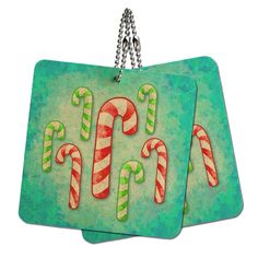 Christmas Candy Canes Wood MDF 4' x 4' Mini Signs Gift Tags ** Review more details here : Christmas Gifts
