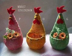 Idea to make cute containers for little kiddies from plastic bottles! 🙂 Idea to make cute containers for little kiddies from plastic bottles! Reuse Plastic Bottles, Plastic Bottle Flowers, Plastic Bottle Crafts, Recycled Bottles, Easter Crafts, Fun Crafts, Diy And Crafts, Crafts For Kids, Chicken Crafts