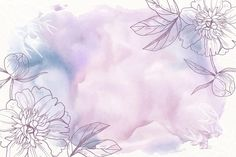 Purple powder pastel with hand drawn flo... | Free Vector #Freepik #freevector #background #flower #floral #hand Floral Watercolor Background, Pastel Background, Leaf Background, Watercolor Leaves, Watercolor Design, Background Pictures, Frühling Wallpaper, Spring Wallpaper, Flower Wallpaper