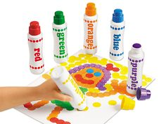 Regular Dot Art Painters - Set at Lakeshore Learning - Christmas 2015 idea Fall Crafts For Kids, Crafts For Teens, Crafts To Do, Art For Kids, Arts And Crafts, Quick Crafts, Kid Art, Foam Paint, Paint Set