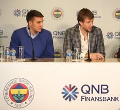 Bogdan Bogdanović and Jan Vesely at a sponsor event with Fenerbahce