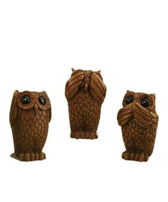 Take a look at this Owl Resin Figurine Set on zulily today!