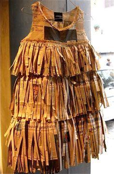 paper dress: