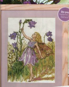 Cross stitch - fairies: Harebell fairy - Cicely Mary Barker (free pattern with chart)