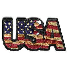 The USA Vintage Patch Flag Patch Small Embroidered Patch measures inch. Iron on or Sew on Application. Embroidered Quality Flag Patch you can stitch on or iron on.