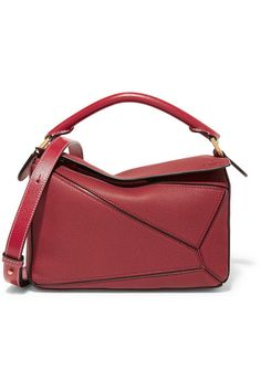 Loewe | Puzzle small textured-leather shoulder bag | NET-A-PORTER.COM