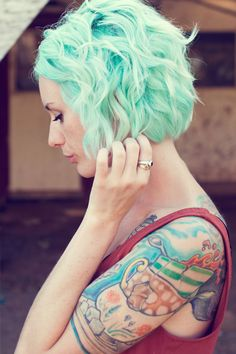 mint hair #haircolor