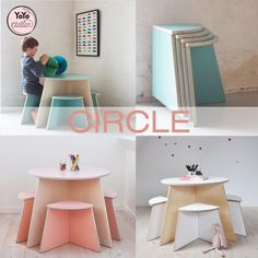 YoYo atelier | CIRCLE  #circle #smalldesign #kidstable #kidsdesign #danishdesign #pastel #tavolinoperbambini. Click through right now to read the entire post!