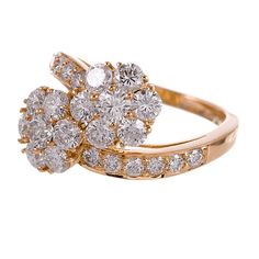 Van Cleef & Arpels Diamond Gold Fleurette Ring  | 1stdibs.com