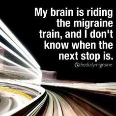 Migraine train.  Help us help others. http://MigraEase.com #migraine #headache…