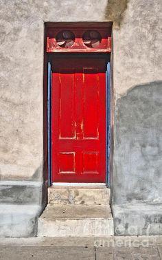 Beautiful Tucson Arizona Red Door Photograph