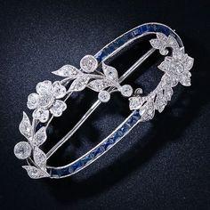 Art Deco Sapphire & Diamond Brooch