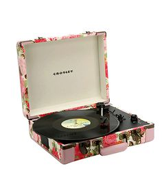 Crosley Floral Executive Turntable