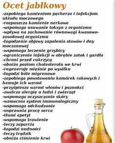 Ocet jabłkowy Healthy Juice Drinks, Healthy Juices, Detox Drinks, Healthy Tips, Nutrition Tips, Health And Nutrition, Health Diet, Health Fitness, Food Facts