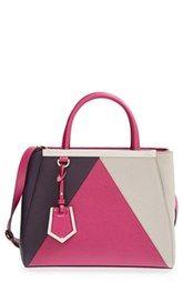 Fendi 'Petit 2Jours Colorblock' Leather Shopper