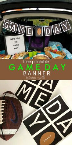dc24c11be Free Printable Game Day Football Banner. Print off this cute football banner  and hang it