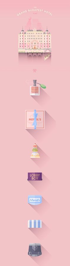 The Grand Budapest Hotel · Flat on Behance | illustrations | Pinterest
