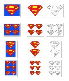 In this large printa Superman Party, Superman Logo, Superman Baby Shower, Superhero Baby Shower, Superhero Birthday Party, 4th Birthday Parties, Boy Birthday, Birthday Ideas, Logo Outline